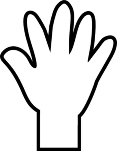 hand print clip art at clker com vector clip art online