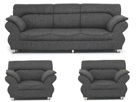 bls grey 3 1 1 sofa set buy bls grey 3 1 1