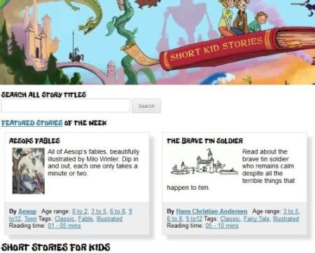 website for reading 6 websites to find stories to read to