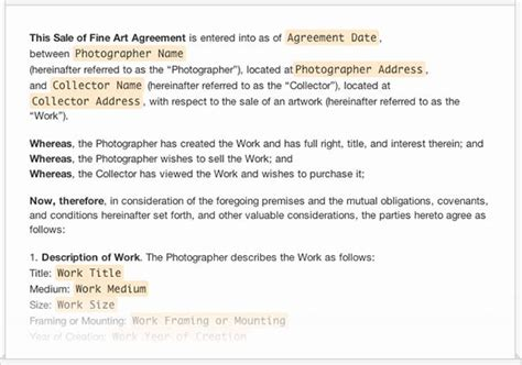 a collection of free sample legal forms for photographers