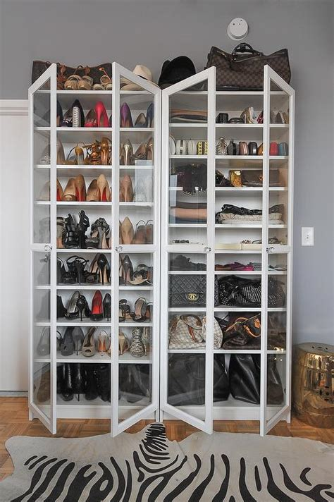 billy bookcase closet organizer shoe space closet space glass doors