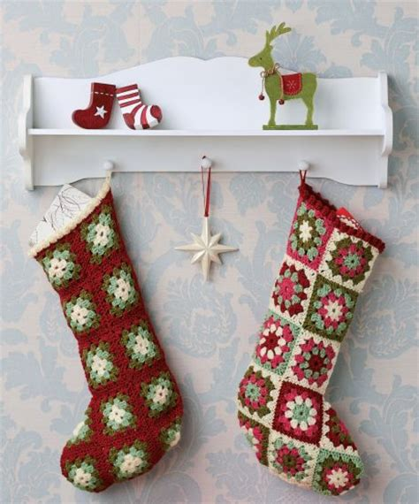 pattern for granny square christmas stocking crochet christmas stockings lots of other knitting and