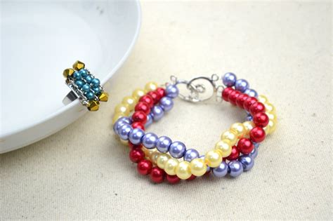 Handmade Beaded Jewelry Patterns - handmade beaded jewelry designs simple pearl bracelet and