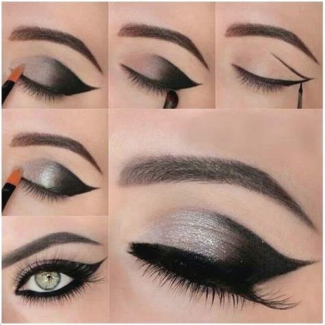 eyeshadow tutorial with pictures shimmery gray smokey eye makeup tutorial