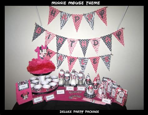 printable minnie mouse party decorations printable diy party decorations minnie zoleesboutique