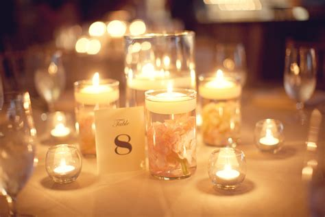 Candles In Vases For Weddings by Wedding Reception Table Hurricane Vases Candles