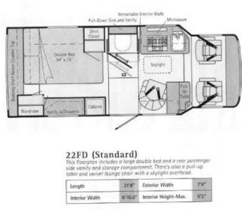 winnebago rialta floor plans this item has been sold recreational vehicles class b