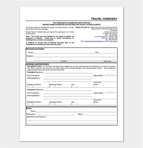 Business Travel Itinerary Template 23 Word Excel Pdf Business Travel Itinerary Template
