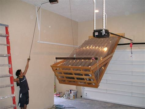 Garage Storage Lift Diy Storage Lift By Mrtrim Lumberjocks Woodworking