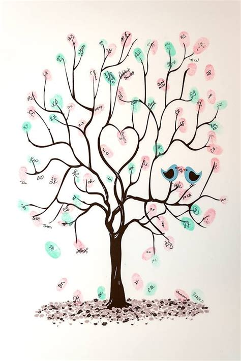 Tree For Baby Shower by Baby Shower Guest Book Tree To Sign Baby Shower