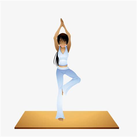 imagenes ejercicios yoga los ejercicios de yoga belleza de dibujos animados yoga
