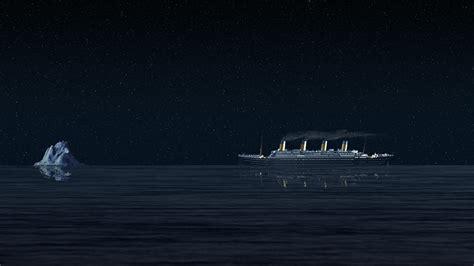 titanic boat iceberg titanic night ship history sea starry night iceberg