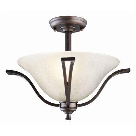 Bronze Ceiling Light Design House Ironwood 2 Light Brushed Bronze Ceiling Semi Flush Mount Light 517631 The Home Depot