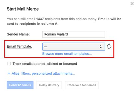 Create A Simple Draft Email Template In Gmail For Your Mail Merge Documentation Yet Another Email Draft Template
