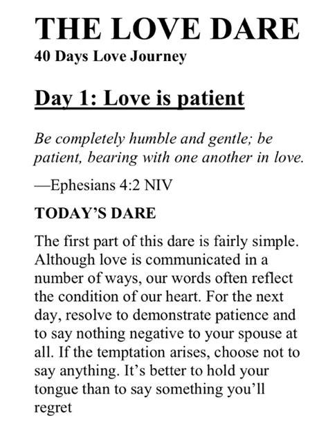 40 Day Love Dare (Day 1) - Bekah Mae