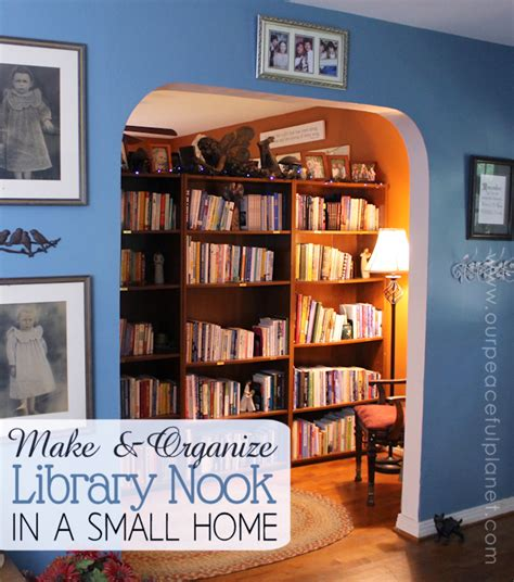 make a library nook in a small home organize it