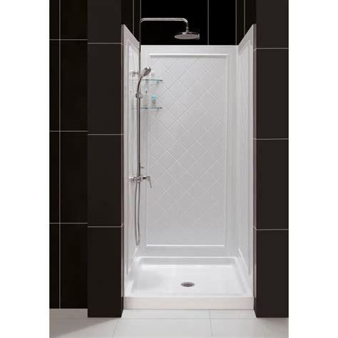 Floor And Decor Location by Shop Dreamline Shower Base And Back Walls White Acrylic