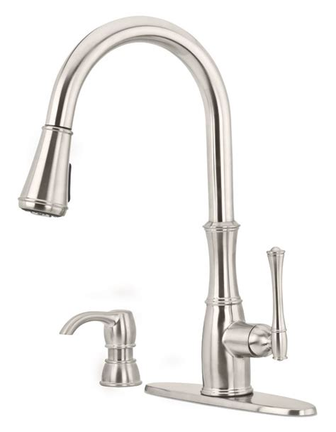 kitchen faucet supply lines faucet gt529whs in stainless steel by pfister
