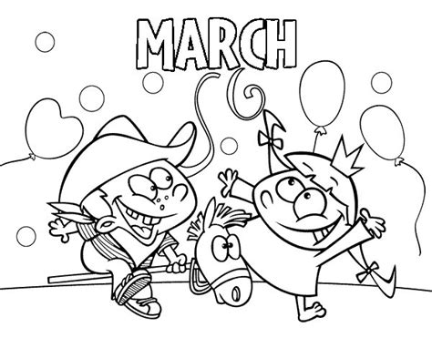 march color march coloring page coloringcrew