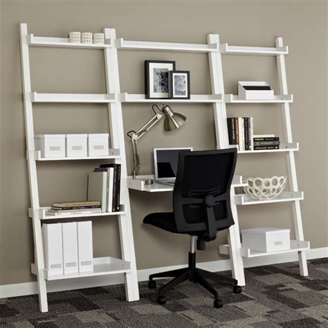 Leaning Shelf Unit by White Linea Leaning Bookcase Shelving Sale 104 25
