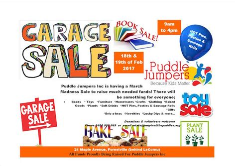 garage sale puddle jumpers 18 19 feb 2017 play and go