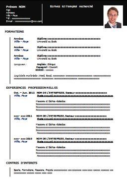 un cv format word mod 232 le de cv 224 imprimer gratuit au format word