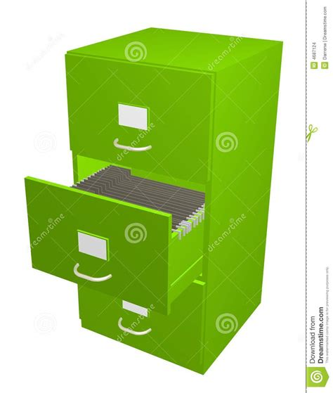 Green Filing Cabinet Green Filing Cabinet Stock Images Image 4687124