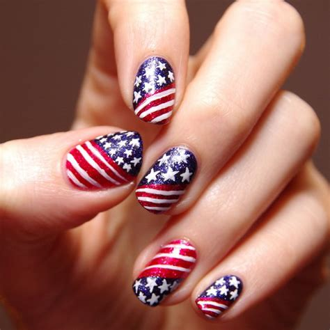 nails design usa 30 american flag inspired stripes and stars nail ideas