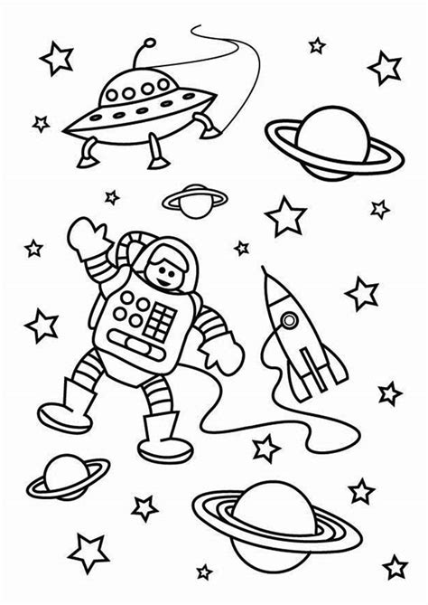 space coloring pages for kindergarten outer space coloring pages getcoloringpages com