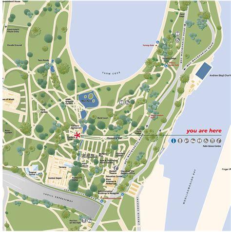 sydney botanic gardens map royal botanic gardens sydney 1999 dot dash