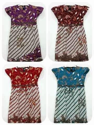 Blus Batik Cap Pola Bahu Tunik 2 dress batik anak pola parang batik lestari pusat