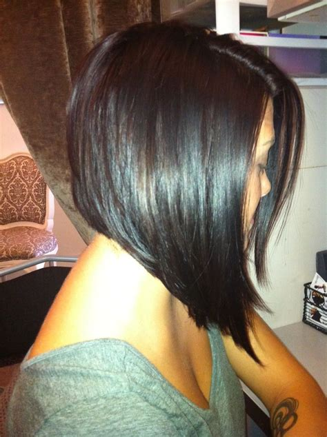 dark hair with graduated layers graduated inverted bob lauren hair make up