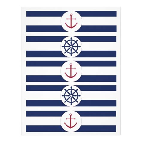 printable nautical labels nautical baby shower water bottle labels flyer zazzle