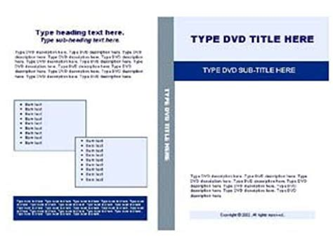 memorex dvd inserts template blue cd dvd insert label template free layout