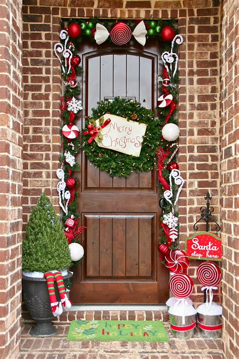 holiday door decorating ideas how to achieve the perfect front door decor this christmas