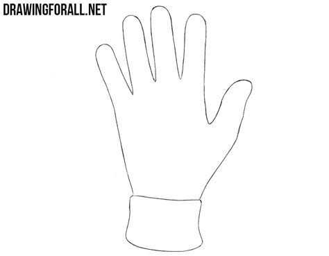 Drawing Glove by How To Draw A Glove Drawingforall Net