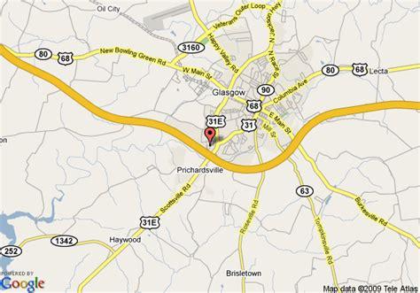 kentucky map glasgow map of comfort inn glasgow glasgow
