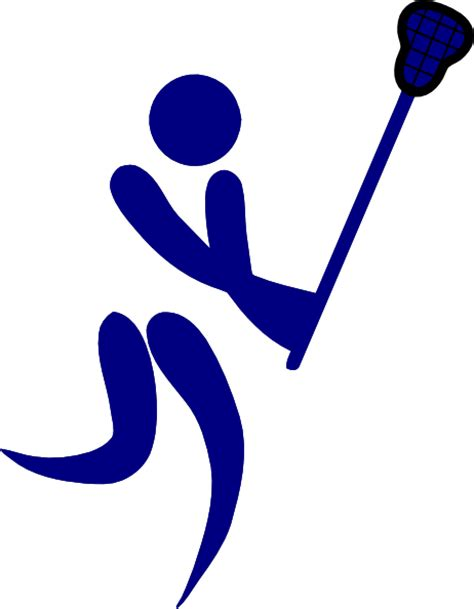 Lacrosse Clipart Free blue lacrosse clip at clker vector clip royalty free domain