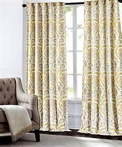 Mustard Colored Curtains Inspiration Tahari Home Camden Paisley Scrolls Window Panels 52 By 96 Inch Set Of 2 Floral Medallions Window