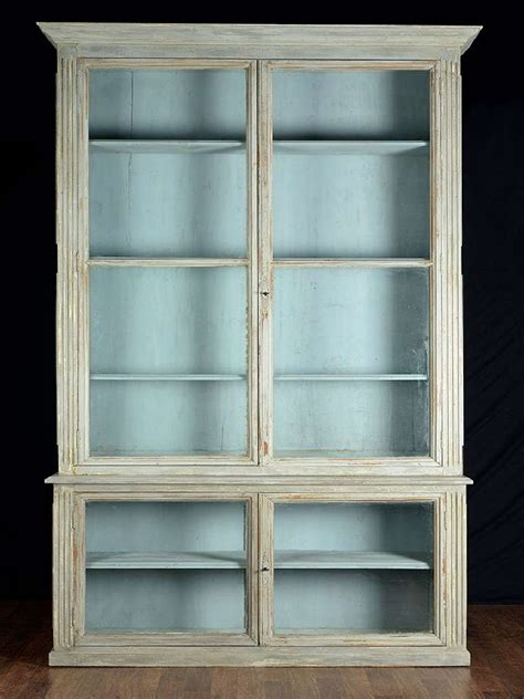 Antique Bookcases With Glass Doors Pair Of Antique Glass Door Bookcases At 1stdibs