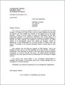 Lettre De Recommandation Lettre Type Modele Lettre Recommandation Document