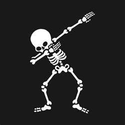 Kids Wall Stickers dabbing skeleton dab skull t shirt teepublic