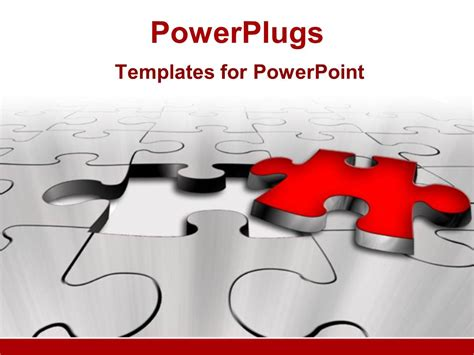powerpoint template piece of puzzle missing problem and powerpoint template missing red puzzle piece problem