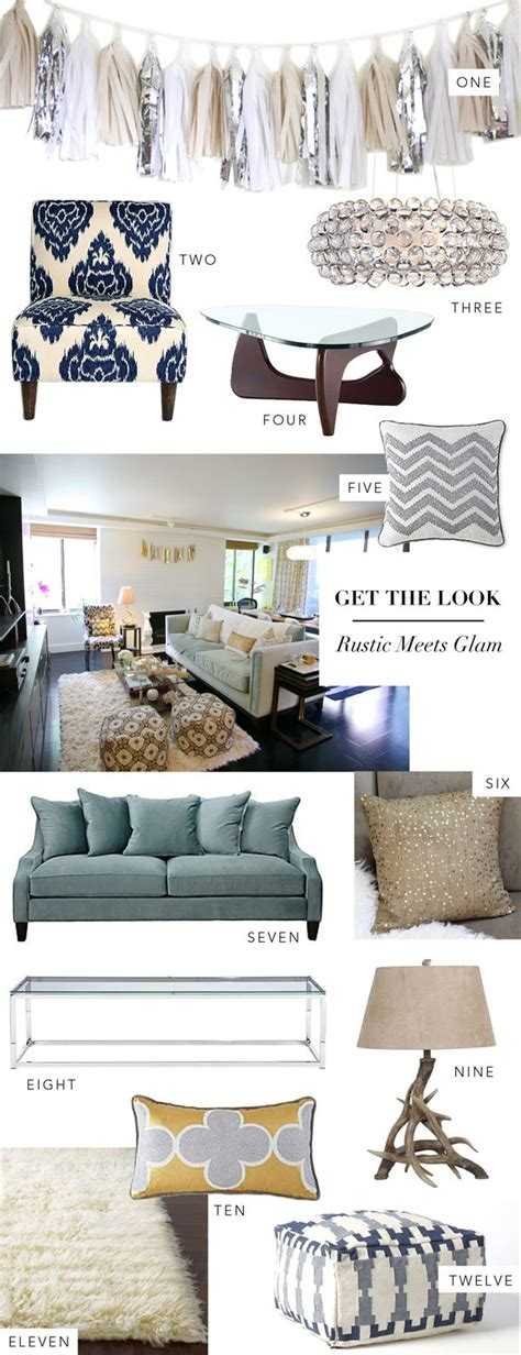 interior get the look rustic meets glam glitter guide