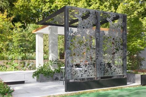pergolas de metal laser cut metal pergolas eclectic garden melbourne