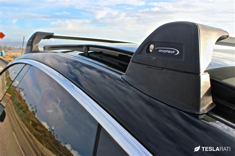 tesla inside roof tesla model s roof rack system whispbar review