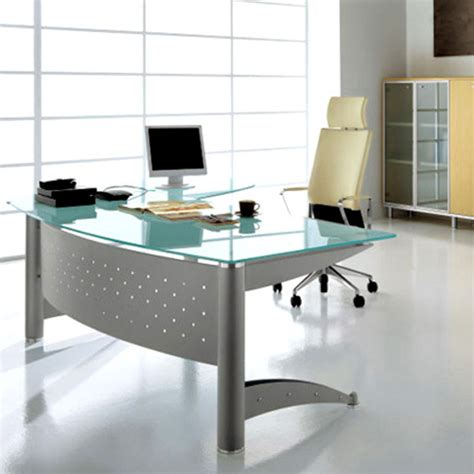 contemporary office desks for home glass top