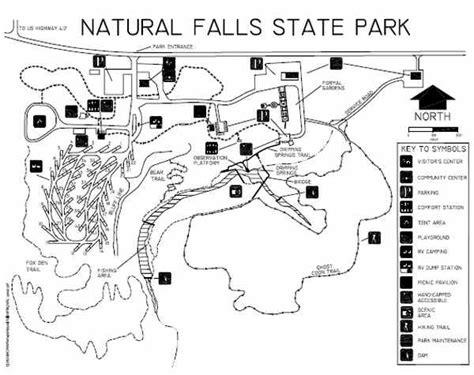 turner falls oklahoma map falls state park map