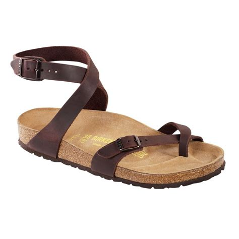 berkinstock slippers birkenstock yara thongs habana brown leather original