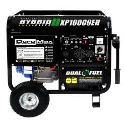 Small Propane Generators For Home Use Duromax 10000 Watt Hybrid Dual Fuel Portable Gas Propane
